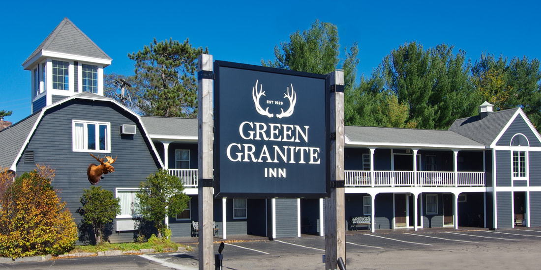 Green Granite Inn Hotel Signage
